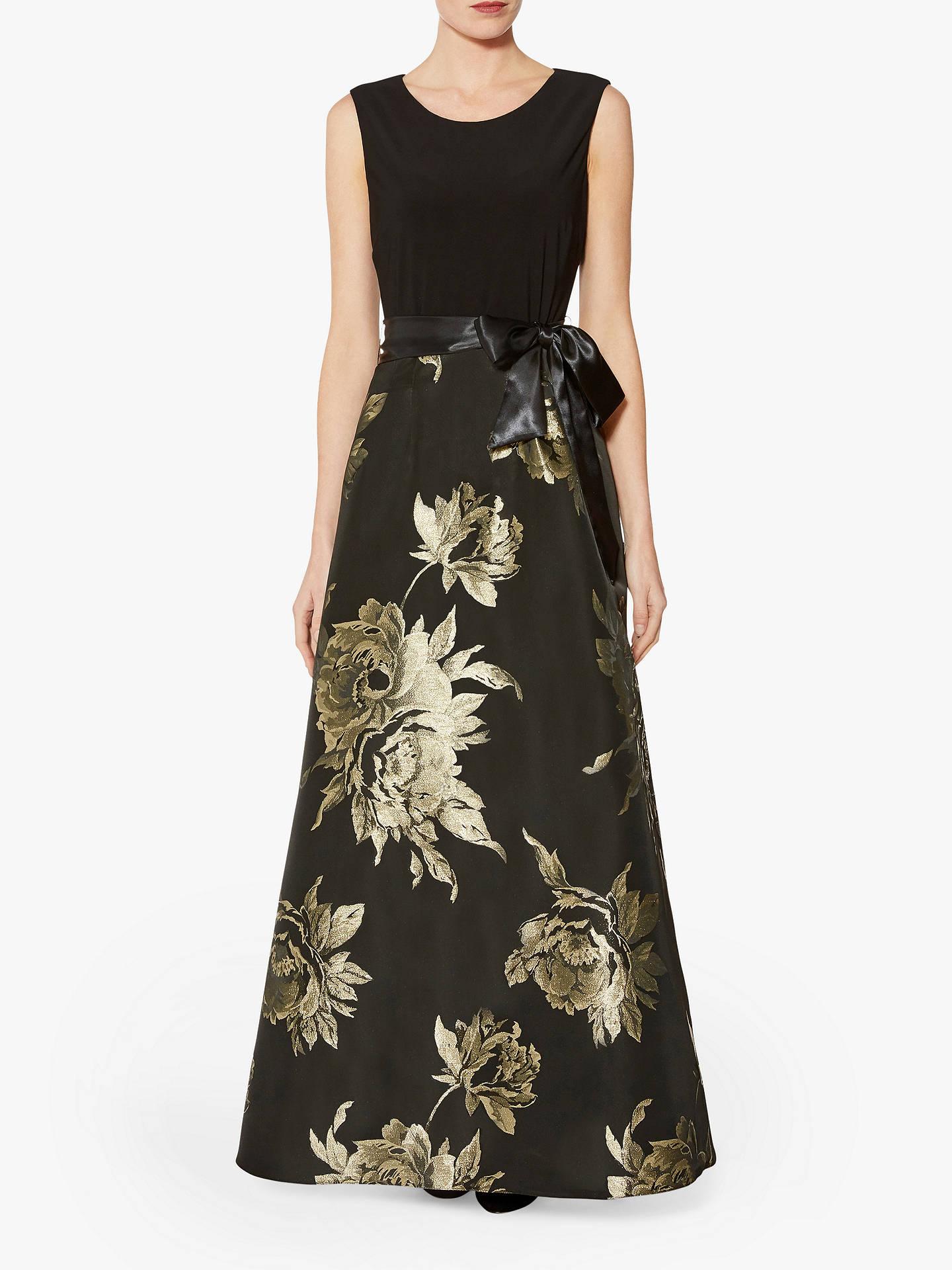 bc247df33480e Gina Bacconi Mili Jersey Maxi Dress, Black/Gold