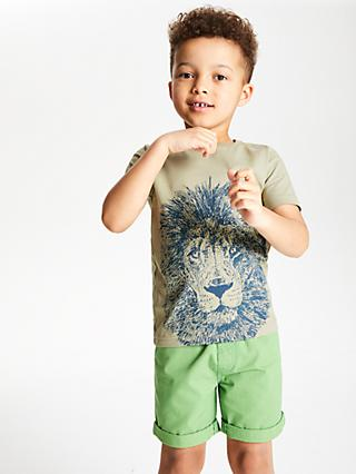 John Lewis & Partners Boys' Lion T-Shirt, Stone