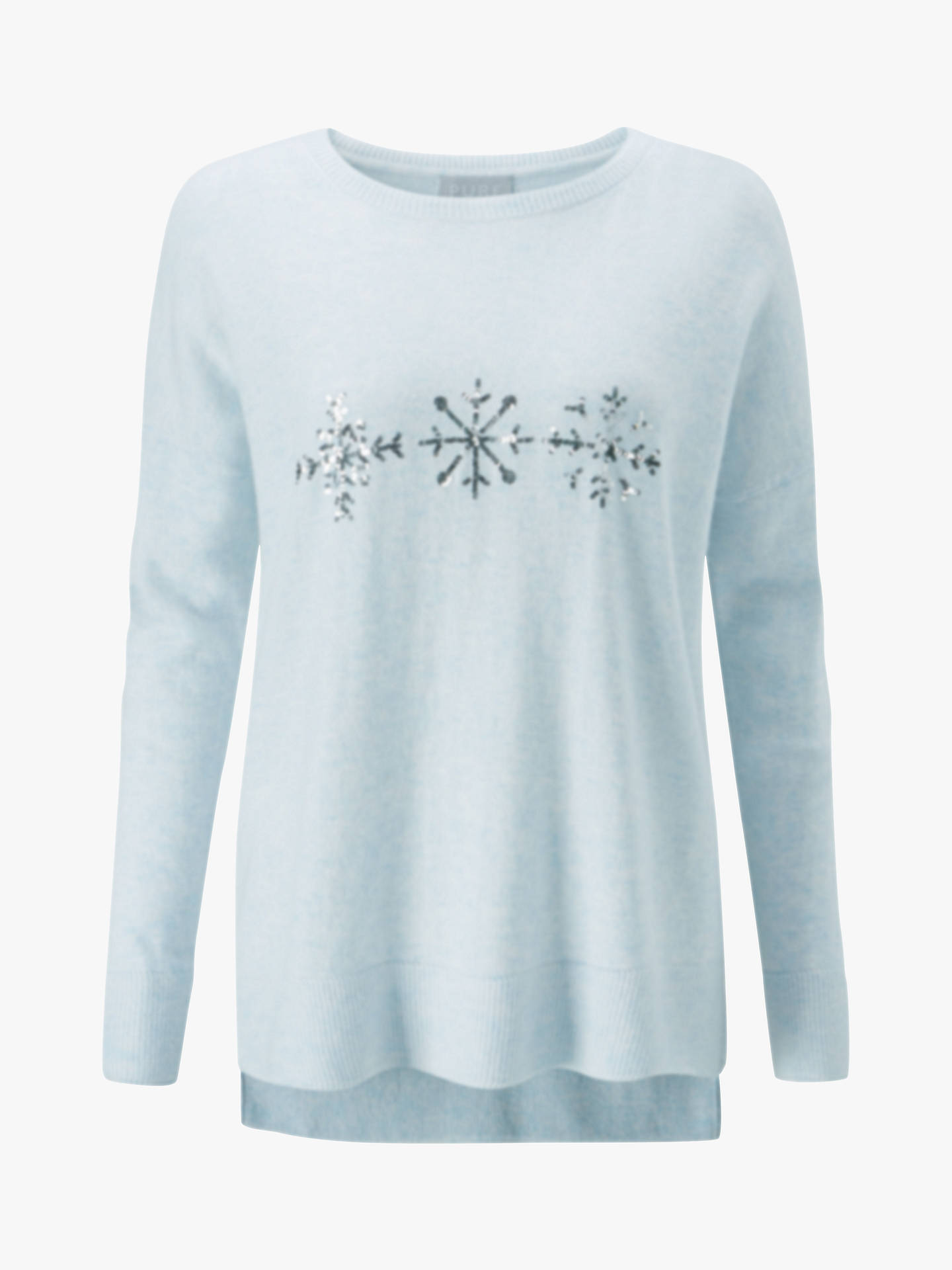 Buy Pure Collection Toccato Snowflake Jumper, Sparkle Snowflake, 10 Online at johnlewis.com