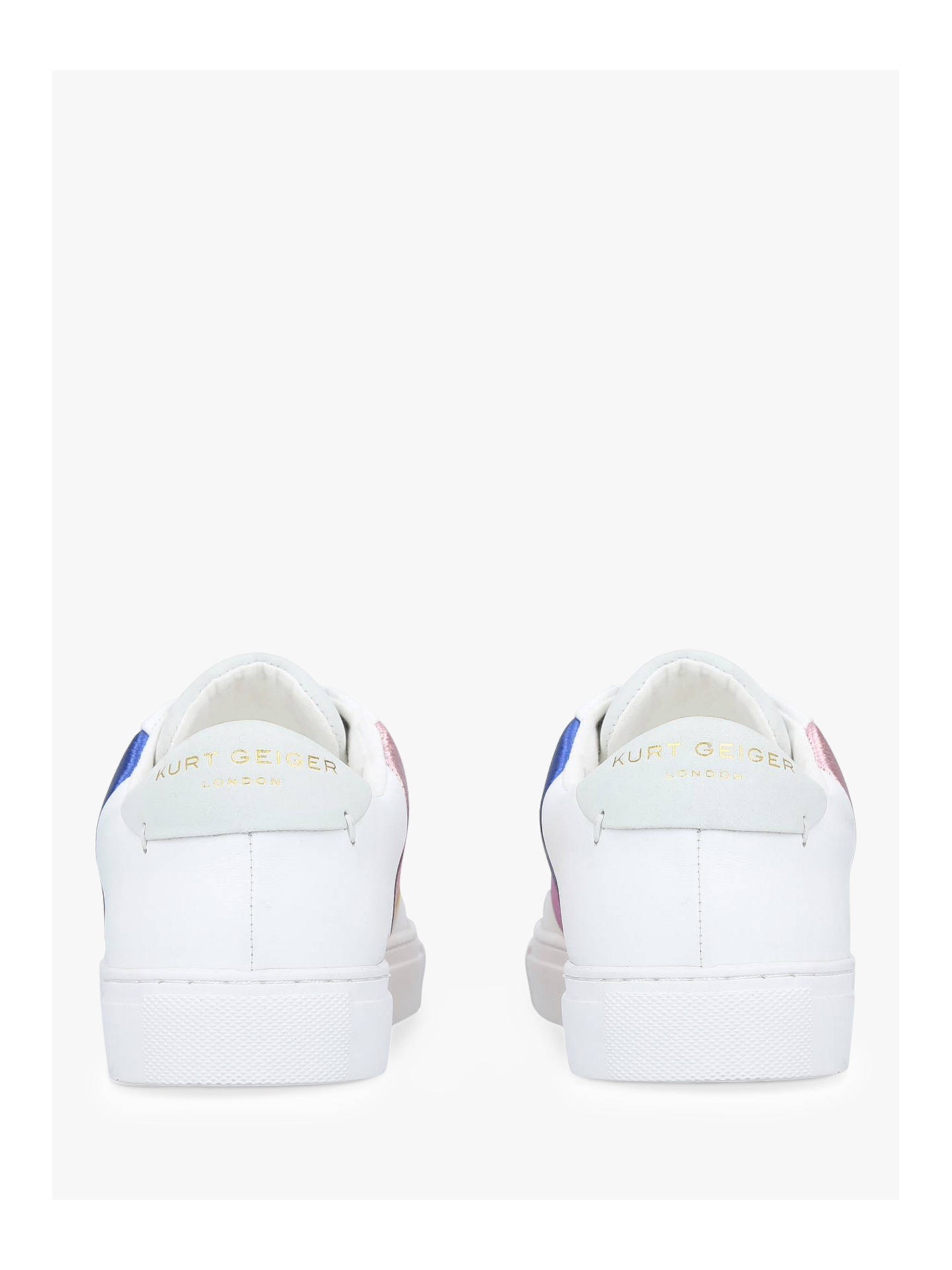 2bf80f44d090b Kurt Geiger London Lane Rainbow Lace Up Trainers at John Lewis ...