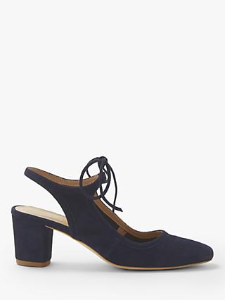 Modern Rarity Carenza Block Heel Cross Tie Court Shoes