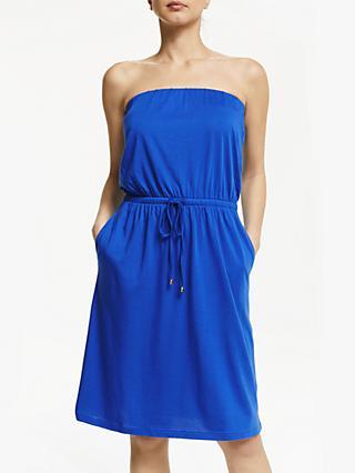 af7cb44b1b John Lewis & Partners Tie Waist Bandeau Midi Dress, Cornflower Blue