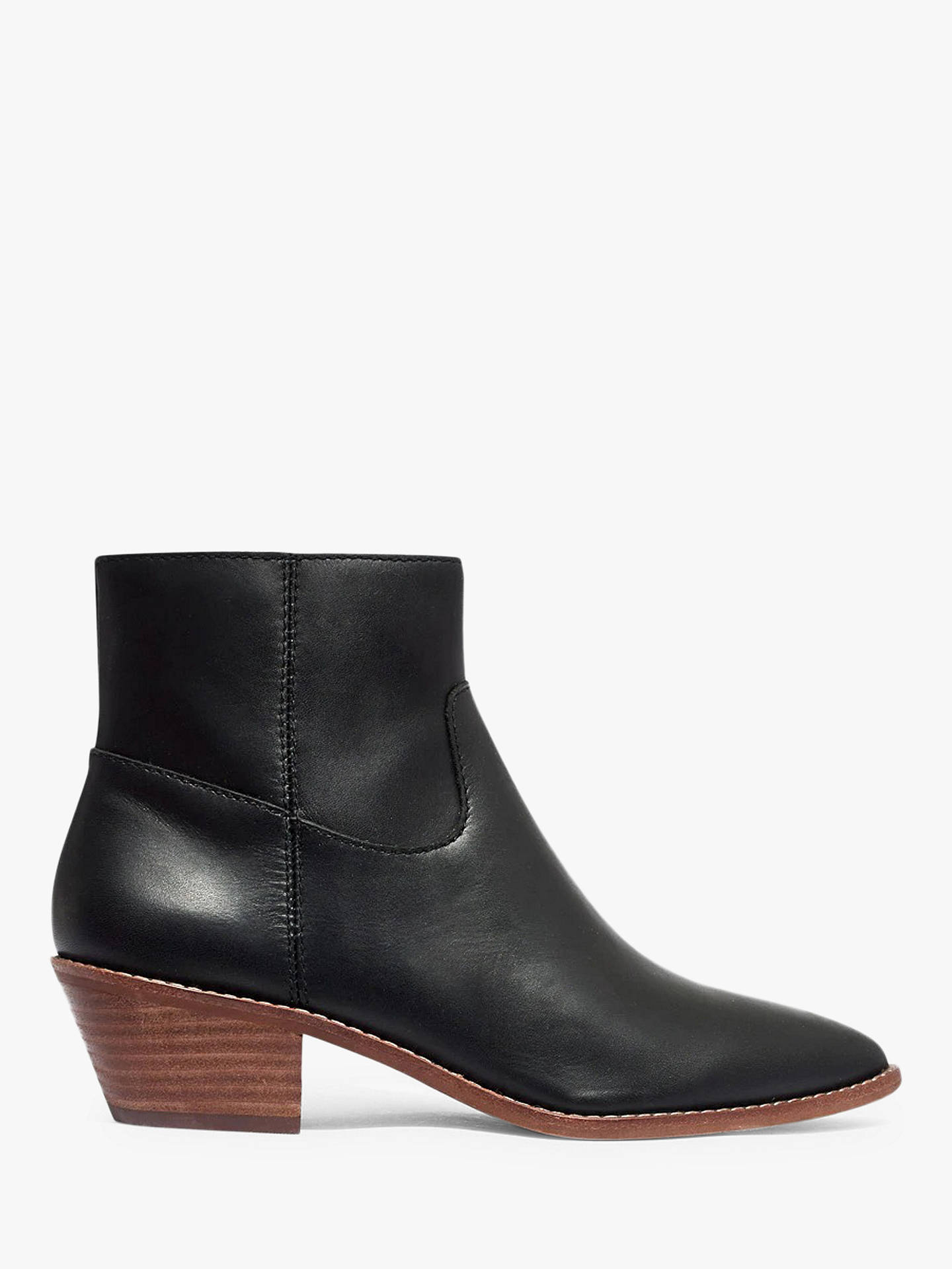 63433c883 Buy Madewell Charley Leather Pointed Ankle Boots, Black, 5.5 Online at  johnlewis.com ...
