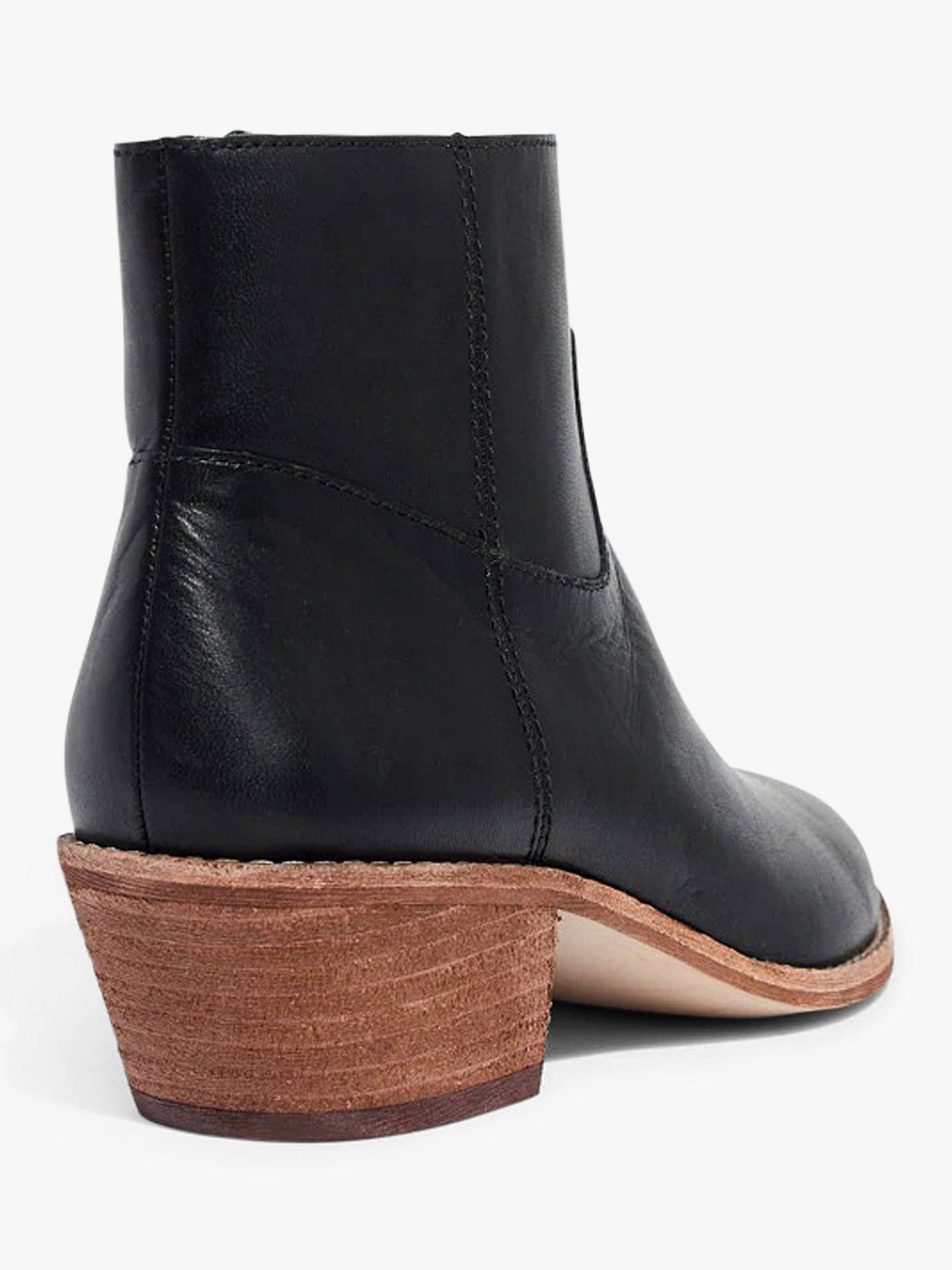 5ab92b9a4f61 ... Buy Madewell Charley Leather Pointed Ankle Boots, Black, 5.5 Online at  johnlewis.com