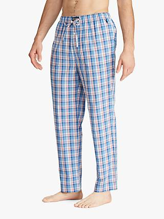 Ralph Lauren Woven Check Pyjama Pants, Blue