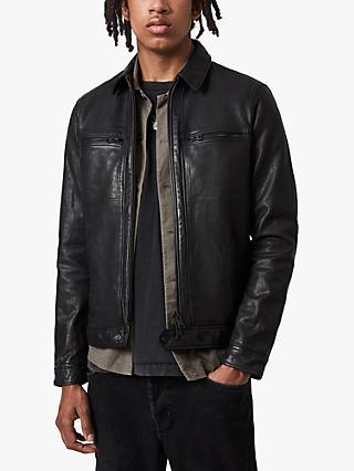 Coats & Jackets Cafe Racer Men's Navy Blue Leather JacketLeather Jacket for Men's XL