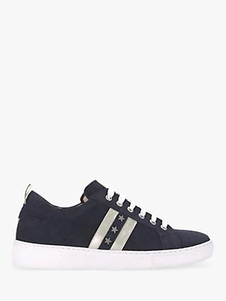 Mint Velvet Allie Star Stripe Lace Up Trainers, Navy