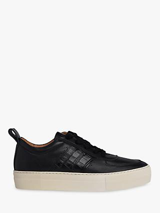 Whistles Anna Deep Sole Trainers, Black Leather