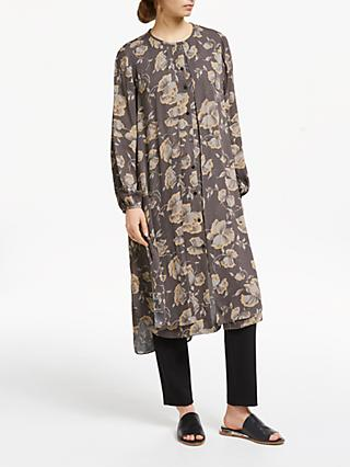 Modern Rarity Archive Print Double Layer Dress, Brown
