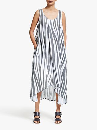 42c19a435ca6 John Lewis & Partners Linen Scoop Back Handkerchief Hem Dress