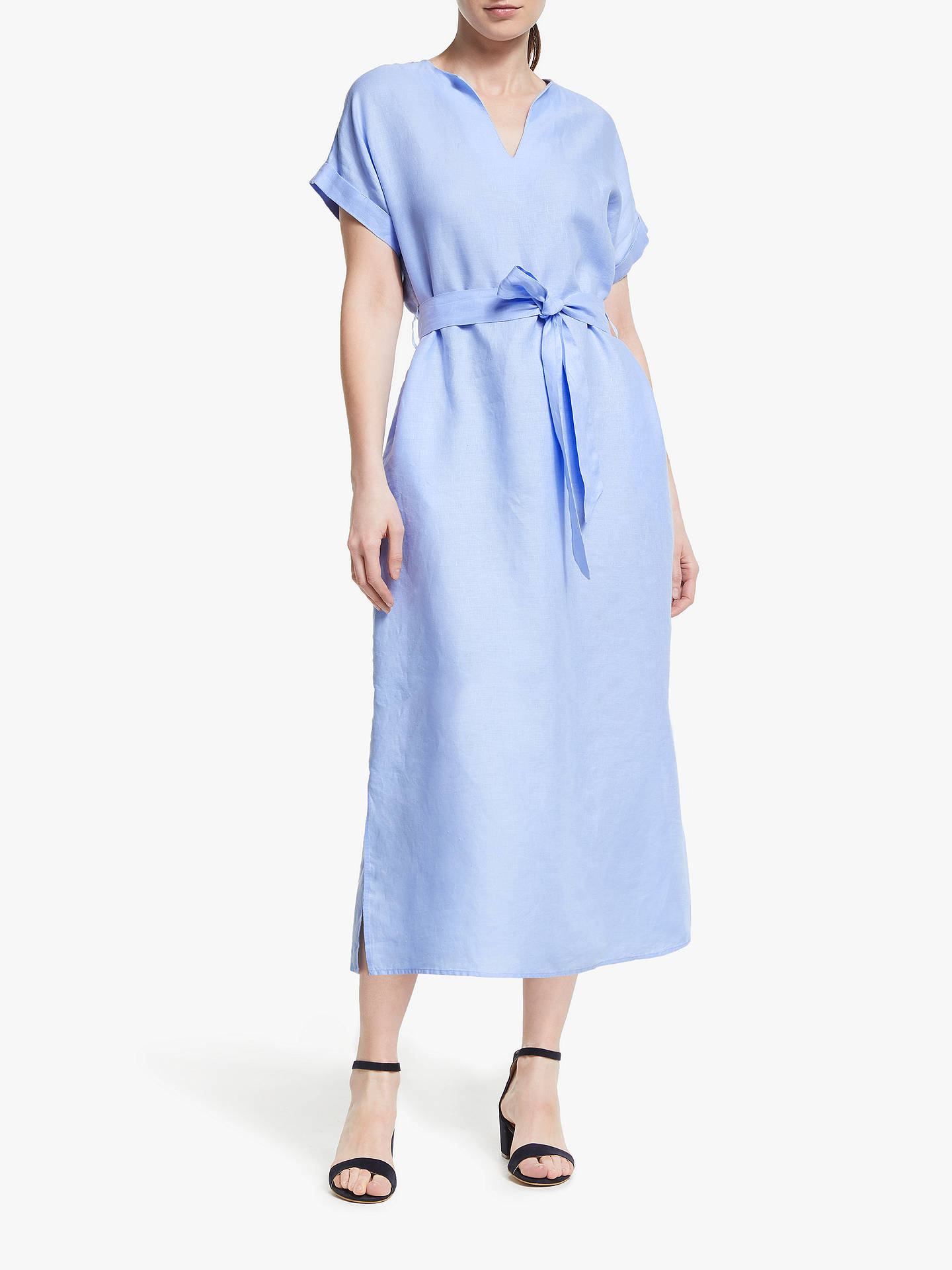 0a979b57af6 Buy John Lewis   Partners Linen Belted Midi Dress