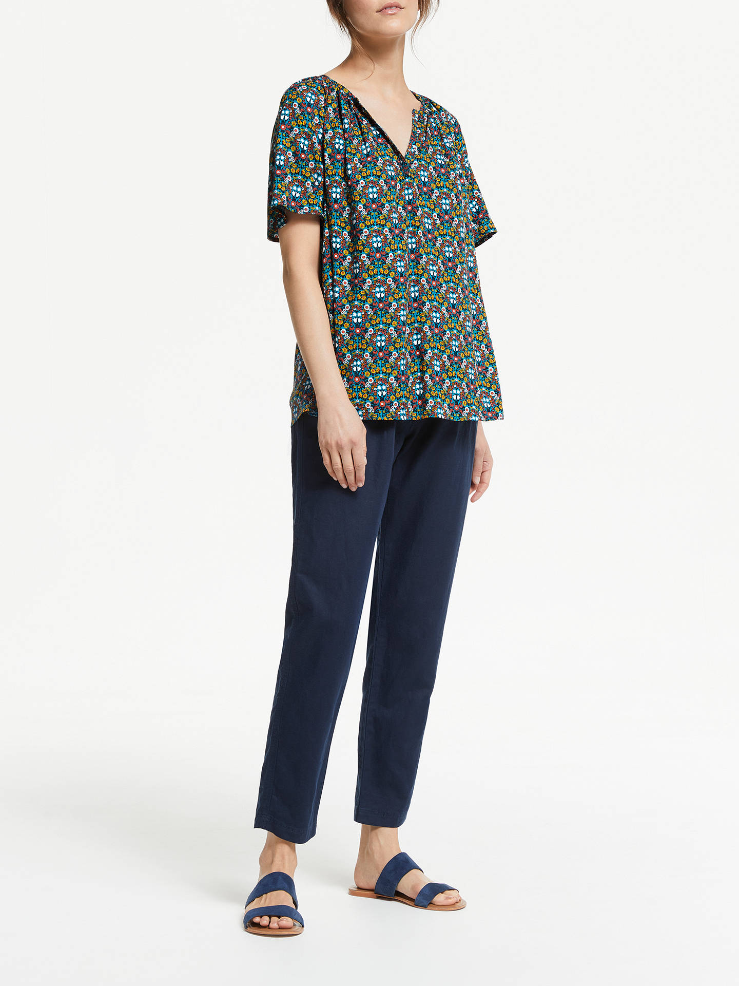 Buy Collection WEEKEND by John Lewis Lavinia Daisy Chain Print Top, Multi, 12 Online at johnlewis.com