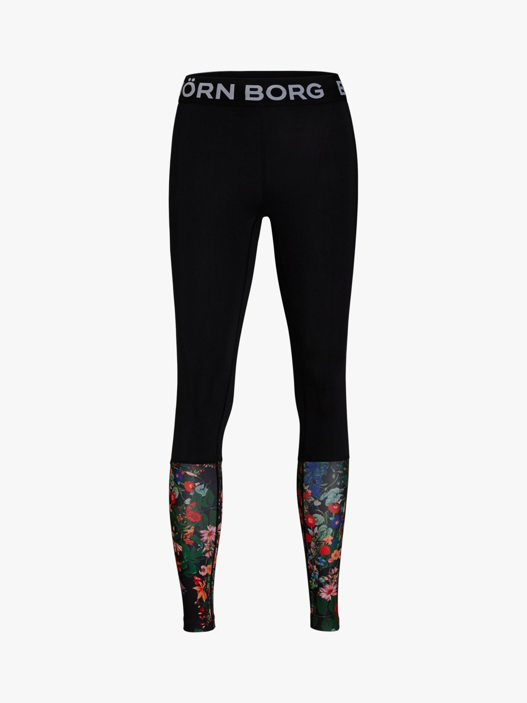 ae8c8dec3e1 Björn Borg Connie Floral Training Tights, Black at John Lewis & Partners