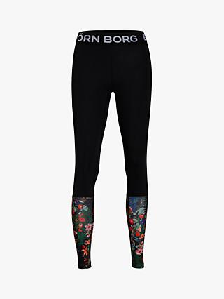 Björn Borg Connie Floral Training Tights, Black