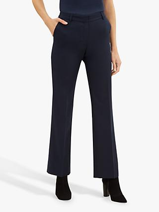 Jaeger Tailored Straight Leg Trousers, Blue
