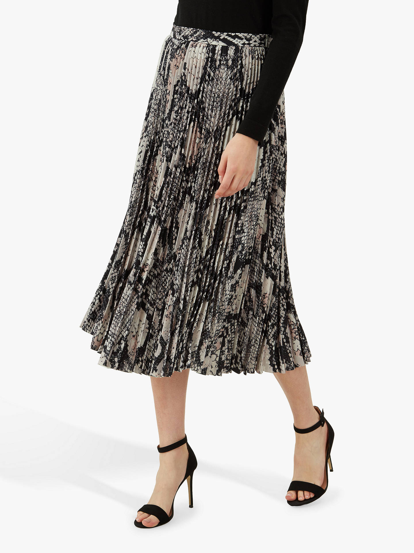 05fb6c0876ba Buy Jaeger Snakeskin Pleated Midi Skirt, Multi, 14 Online at johnlewis.com  ...