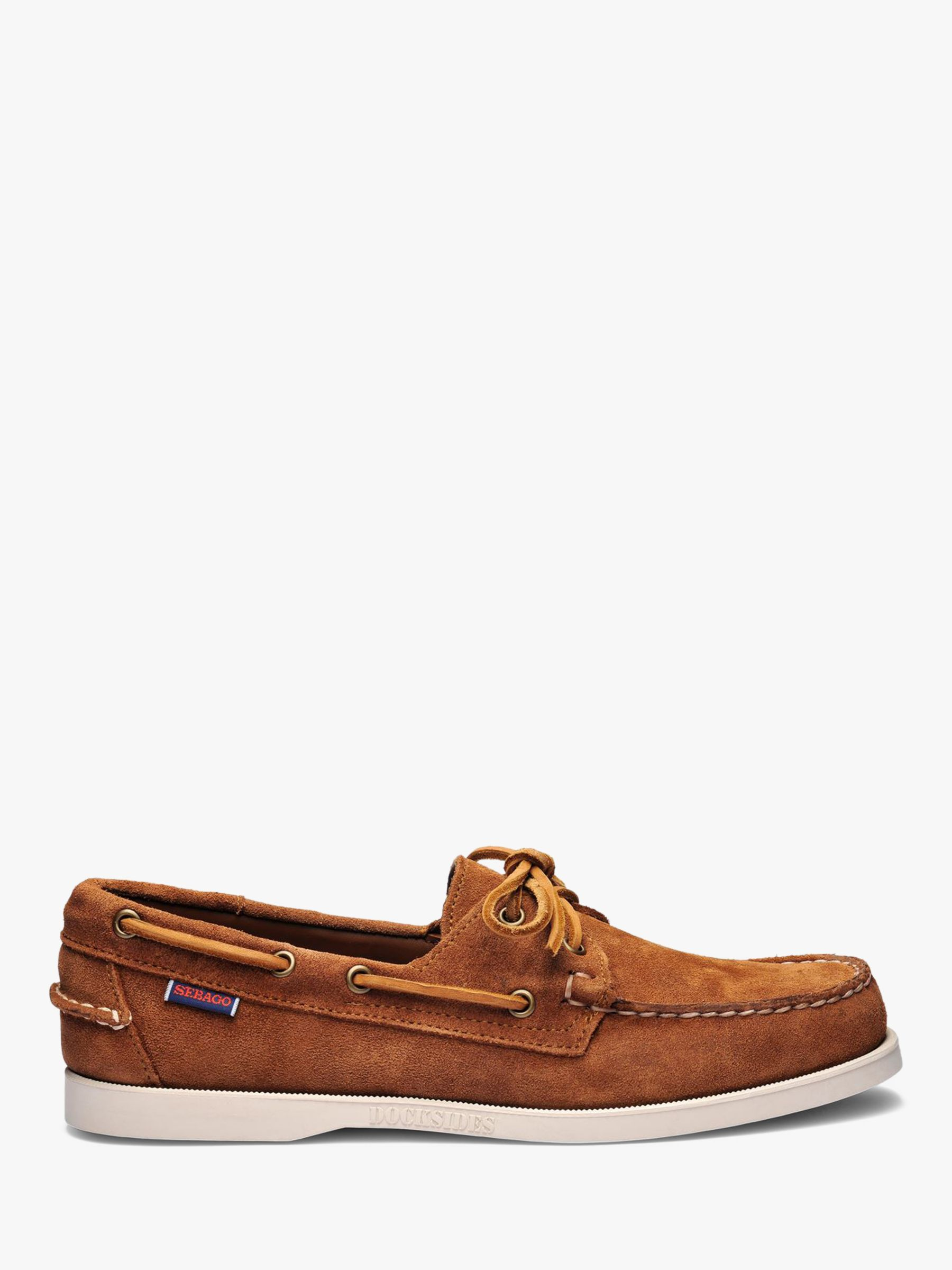 Sebago Sebago Dockside Portland Suede Boat Shoes, Brown Cognac