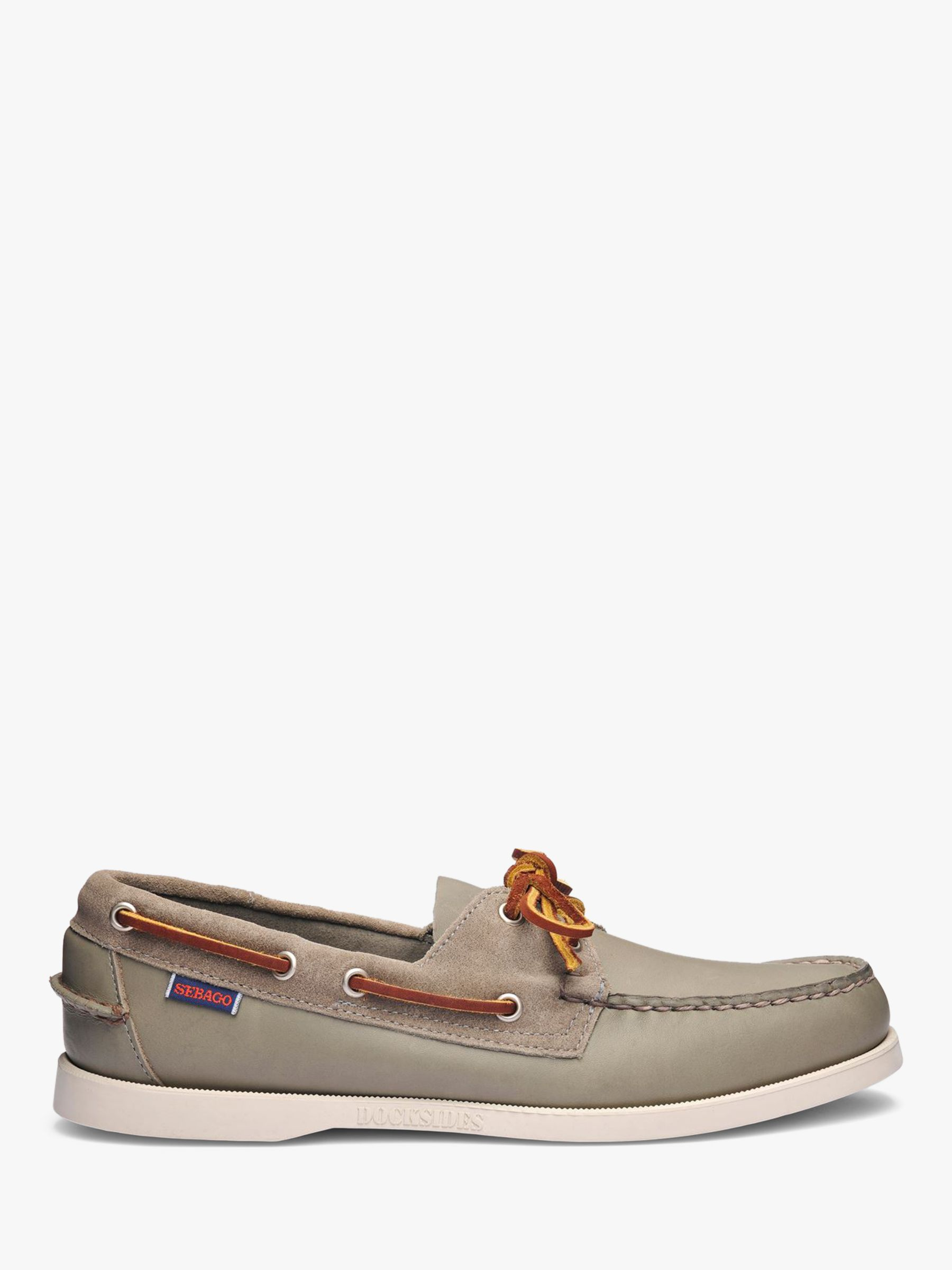 Sebago Sebago Portland Winch Leather Boat Shoes, Green Sage