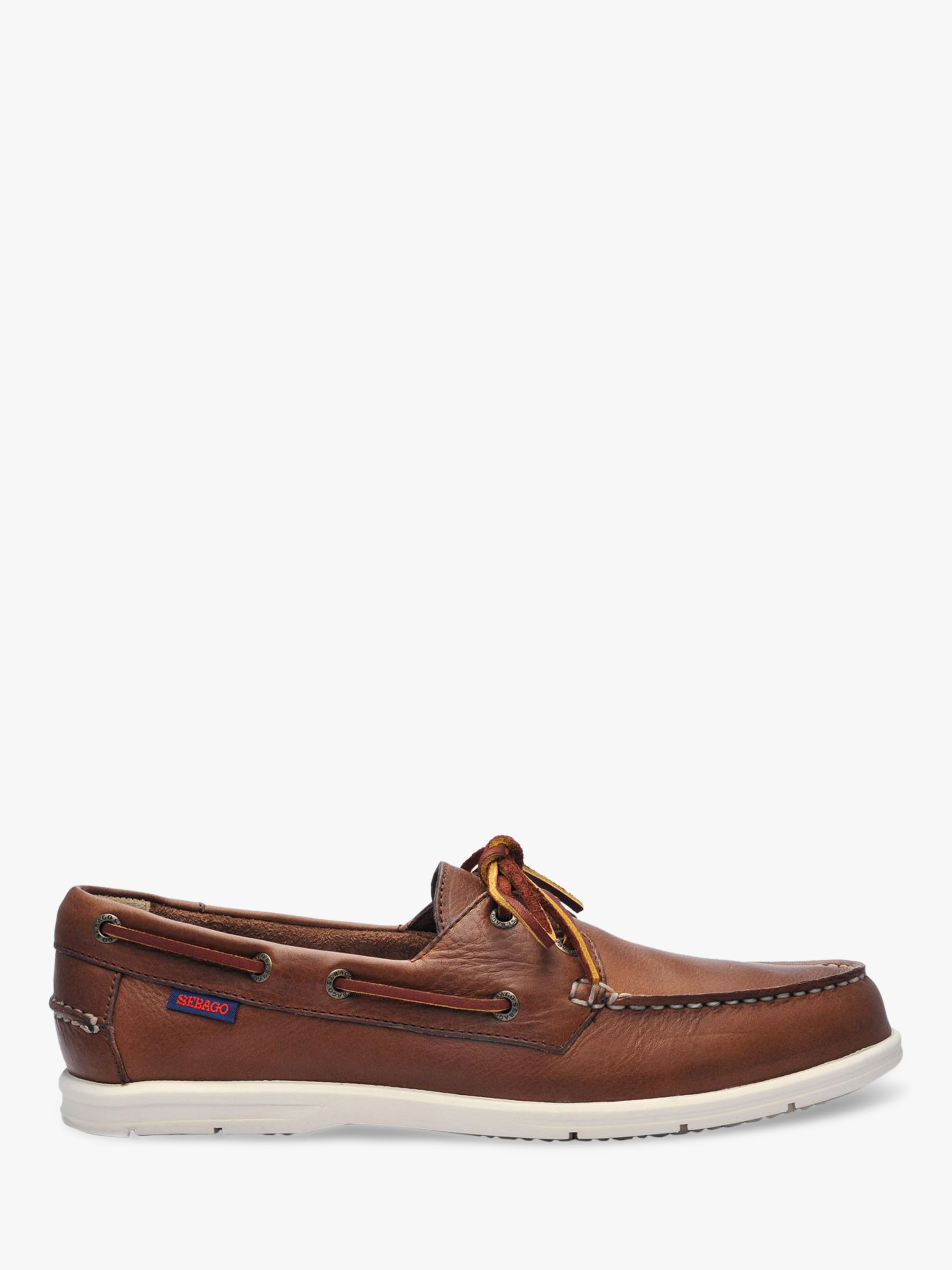 Sebago Sebago Naples Leather Boat Shoes, Dark Brown