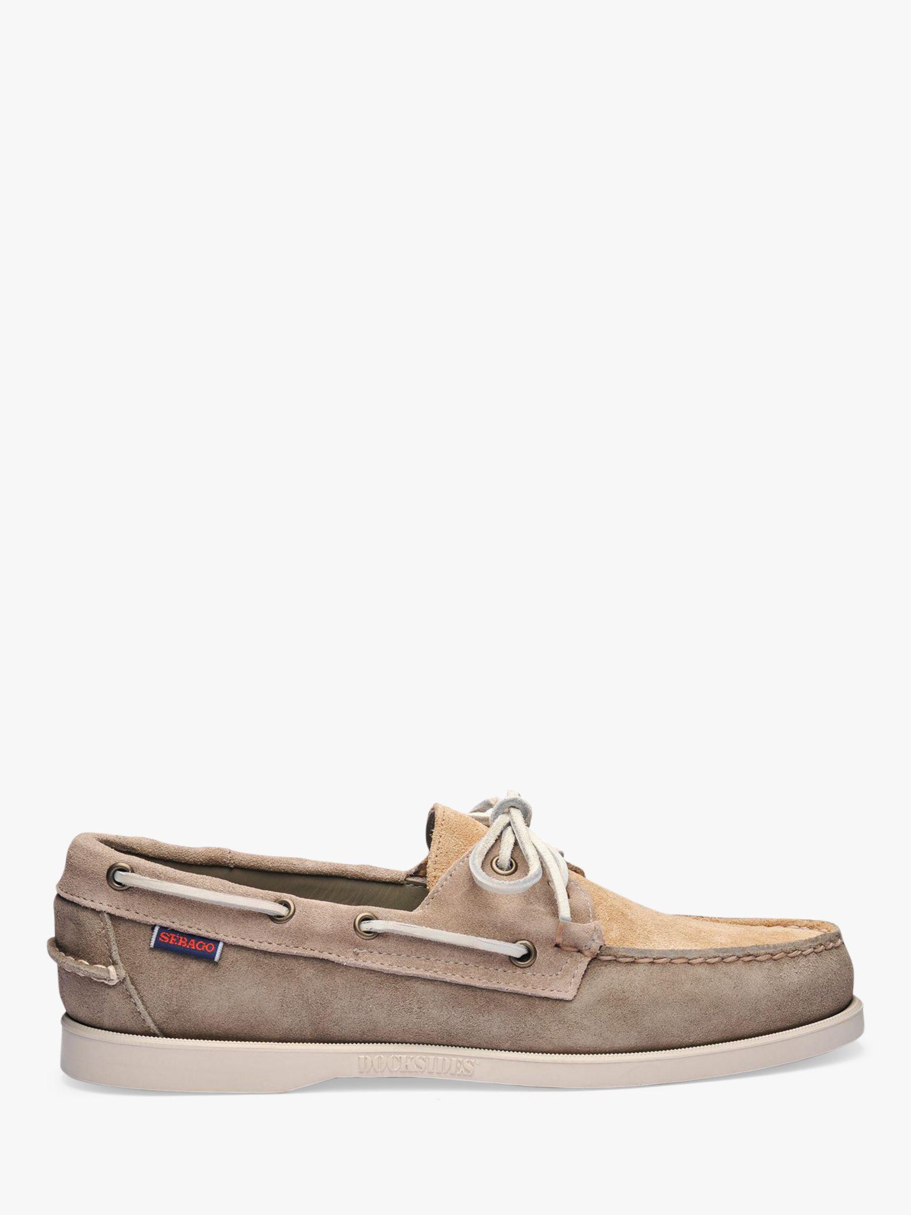 Sebago Sebago Portland Jib Suede Boat Shoes, Sage Taupe Camel
