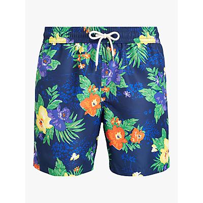 Polo Ralph Lauren Tropical Flower Swim Shorts, Blue