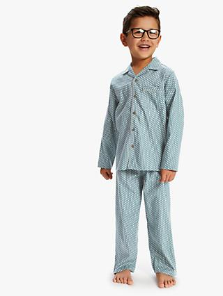 Minijammies Boys' Geo Print Pyjama Set, Green