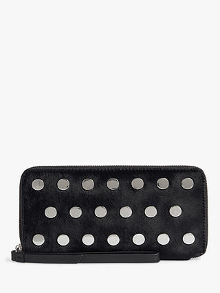 Buy AllSaints Sid Phone Wristlet Purse, Navy, One Size Online at johnlewis.com