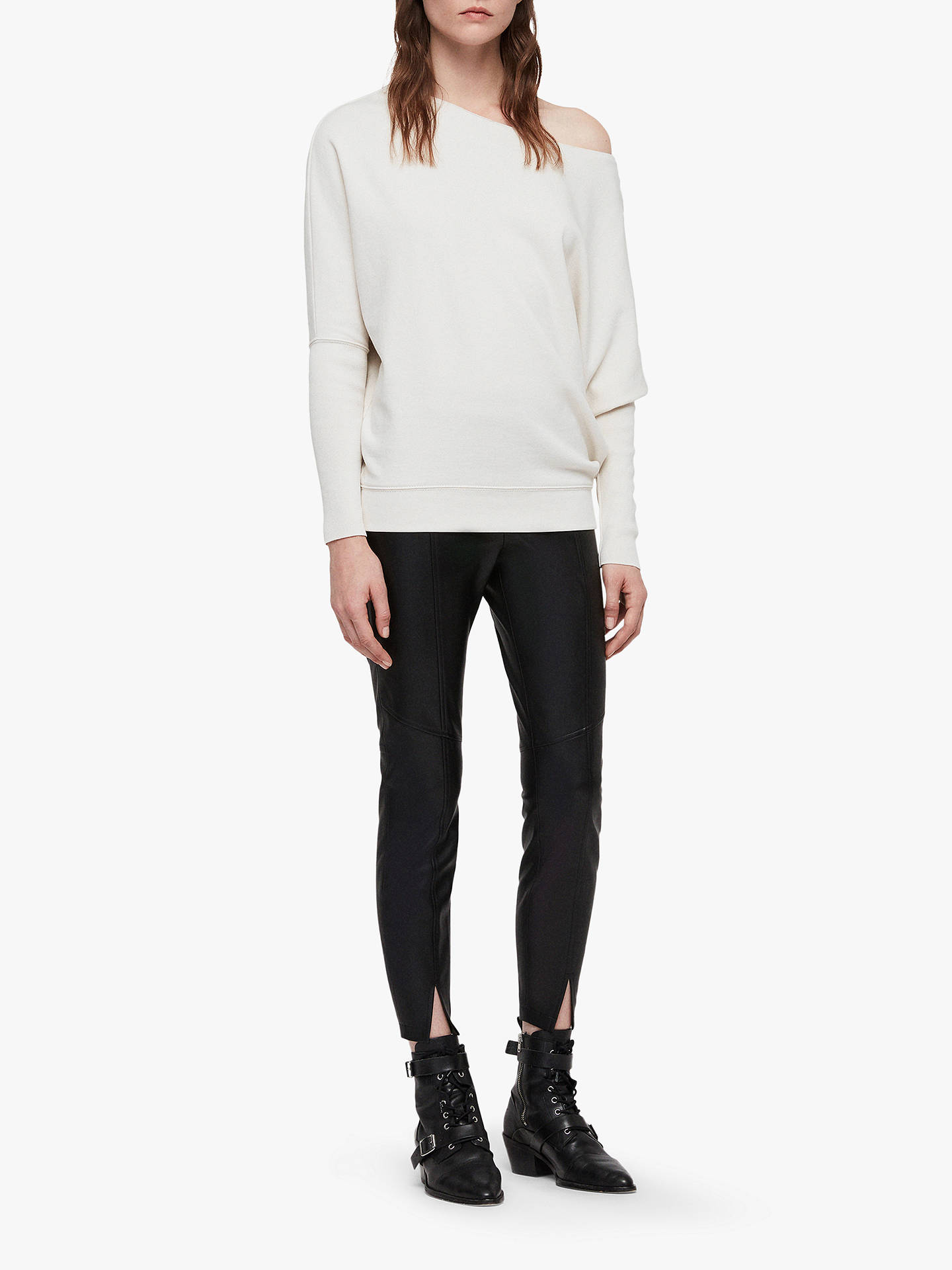 Allsaints Ridley Sweatshirt Ivory White At John Lewis Partners