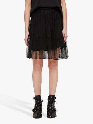 Buy AllSaints Lali Skirt, Black, 6 Online at johnlewis.com