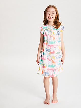 John Lewis & Partners Girls' Party Animals Print Night Dress, Multi