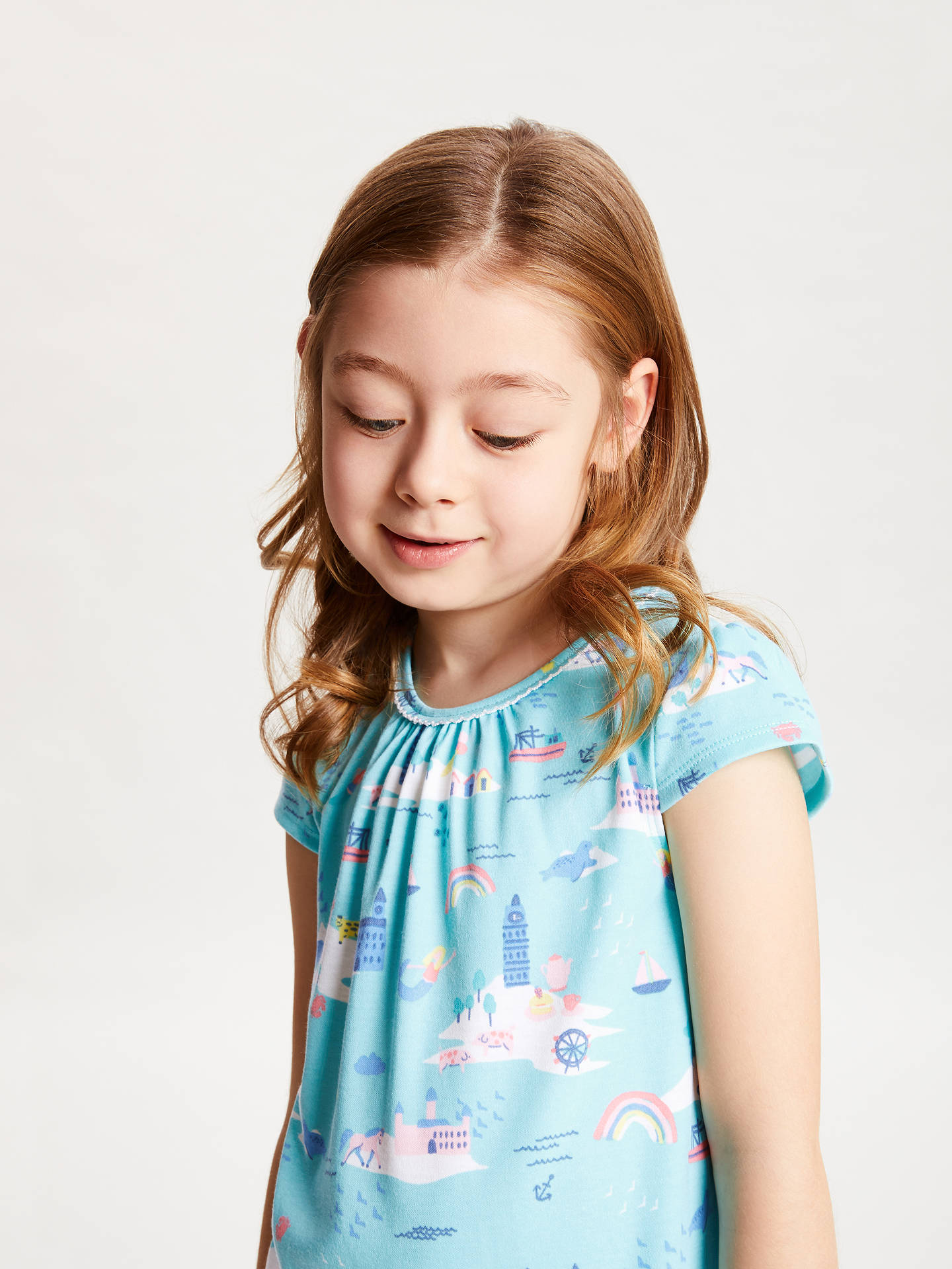 a876976b3 ... Buy John Lewis & Partners Girls' Rainbow Summer Print Night Dress,  Blue, 7 ...