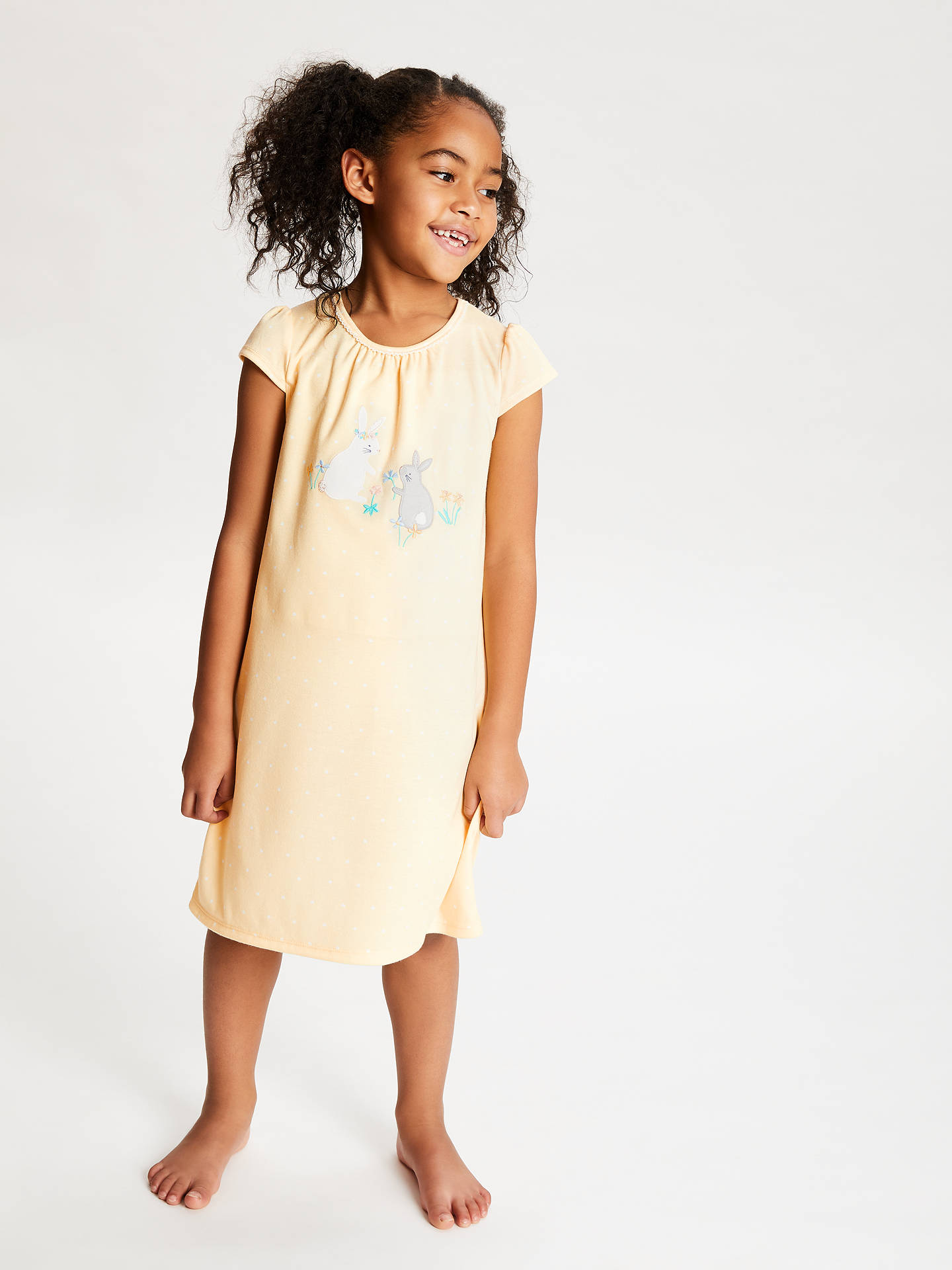 418f111901 Buy John Lewis & Partners Girls' Bunny Applique Night Dress, Yellow, 5  years ...