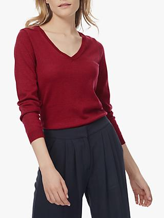 Brora Merino V-Neck Knit Jumper