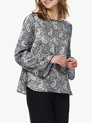 Brora Liberty Print Satin Silk Shirt, Multi