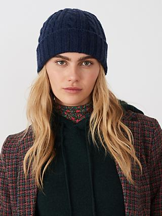 Brora Cashmere Cable Knit Hat
