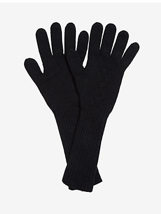 Brora Pointelle Cashmere Gloves