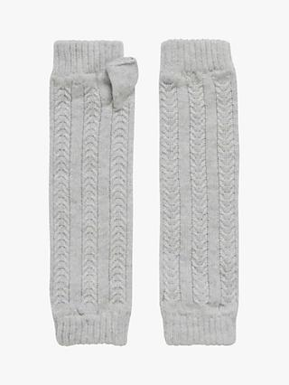 9c2ac570bb4 Brora Cable Knit Cashmere Wrist Warmers, Pearl