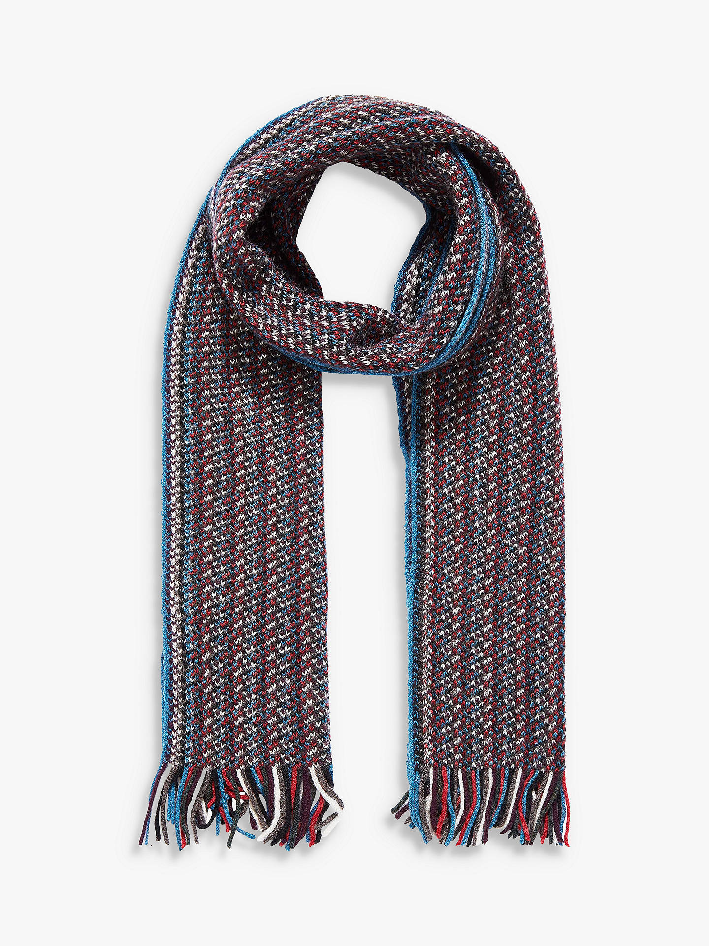 852d263a0 Buy Brora Speckle Knit Cashmere Scarf, Ocean/Clay, One Size Online at  johnlewis ...
