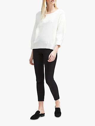 French Connection Ottoman Pleat Jumper, Winter White
