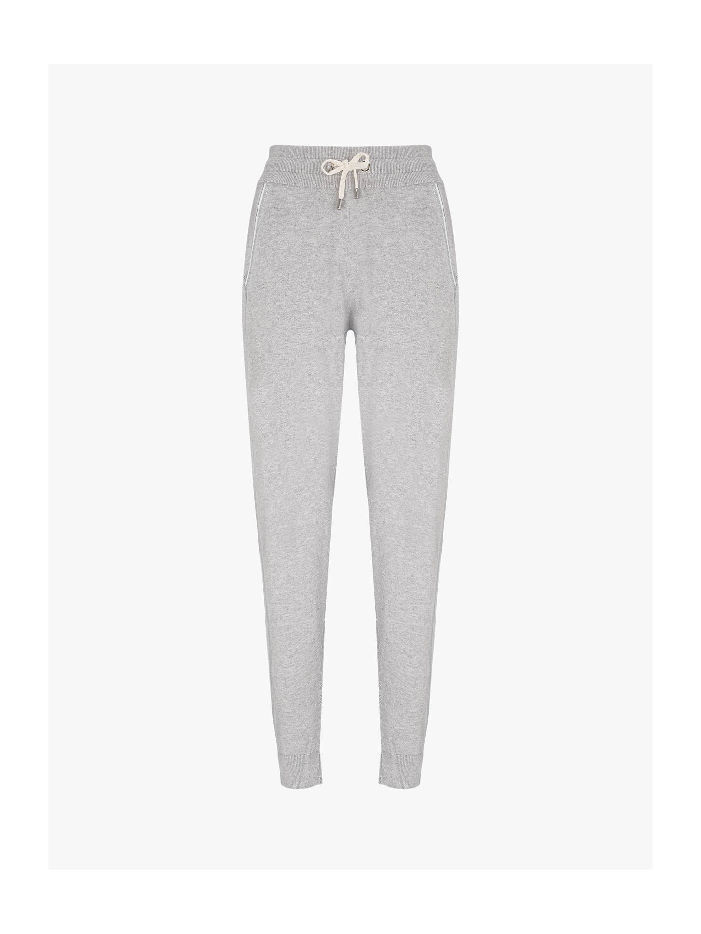BuyHygge by Mint Velvet Cotton Cashmere Jogger, Light Grey, 16S Online at johnlewis.com