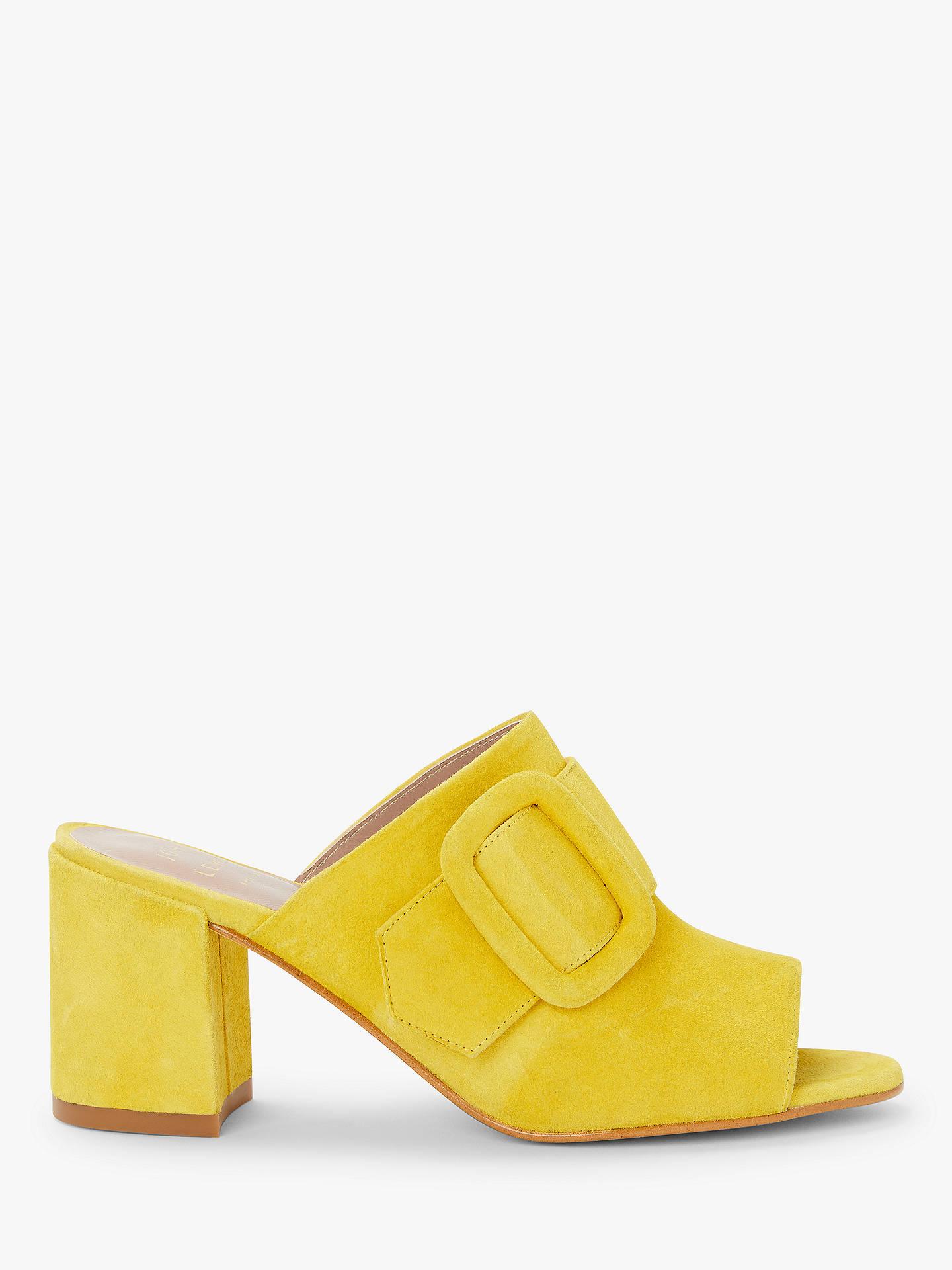 25ddc354fdb John Lewis & Partners Inda Block Heel Sandals, Yellow Suede