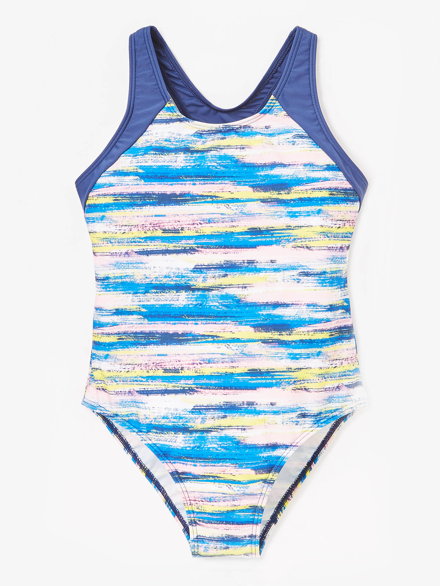 b61f23eb3c8b8 Buy John Lewis & Partners Girls' Paint Print Swimsuit, Blue, 13 years  Online ...