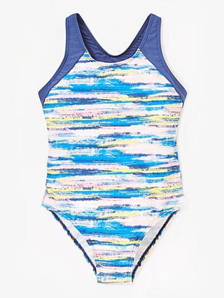 1fd19f1c00aa John Lewis   Partners Girls  Paint Print Swimsuit
