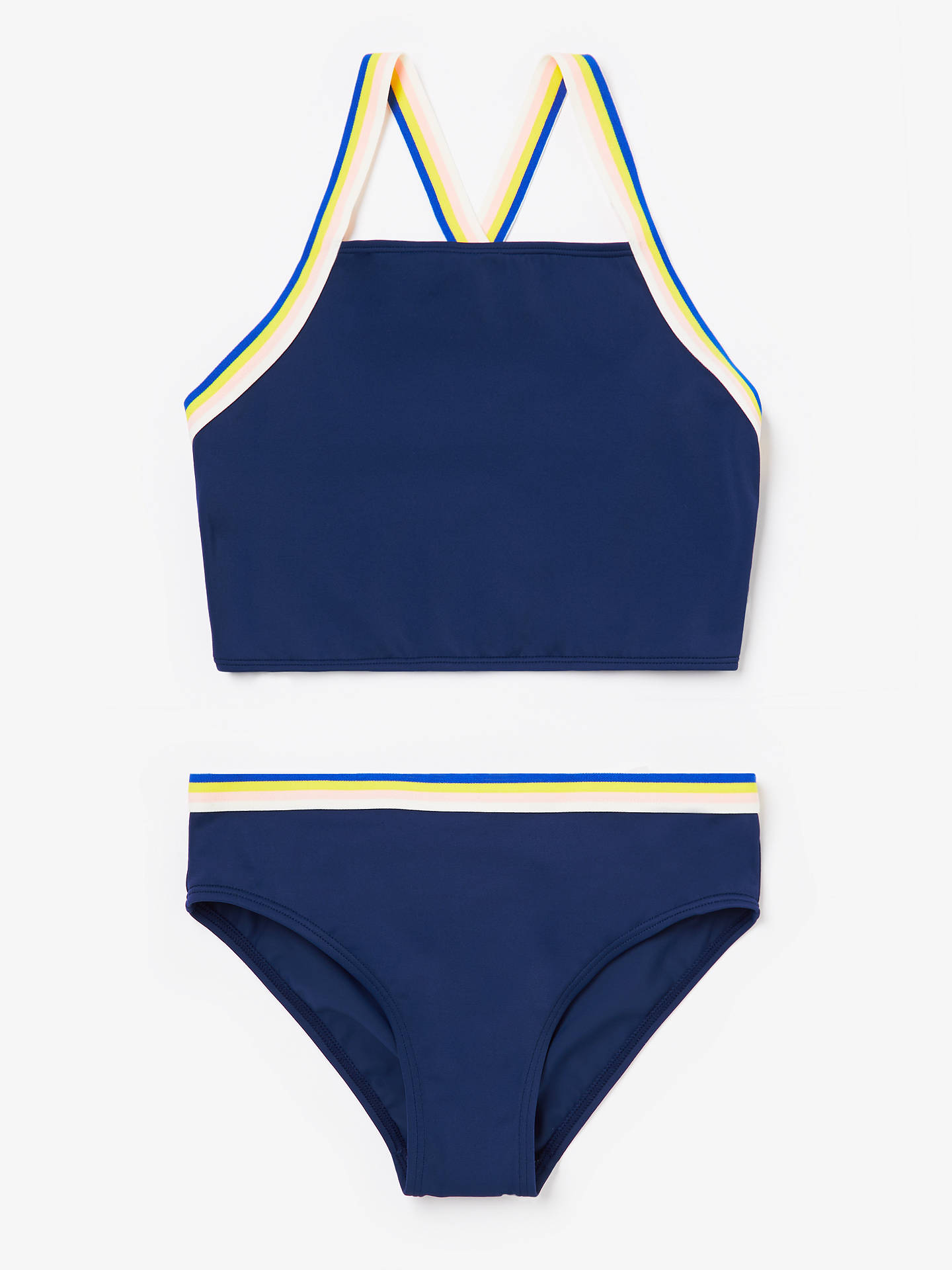 b08711558ff69 Buy John Lewis & Partners Girls' Rainbow Tankini, Navy, 13 years Online at  ...