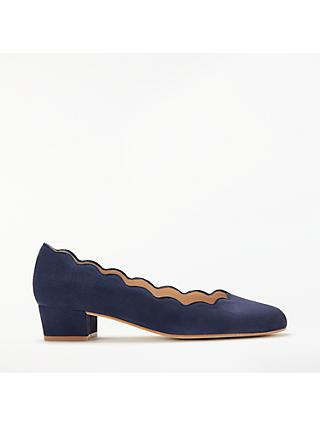 John Lewis & Partners Aiyana Scallop Mid Heel Court Shoes