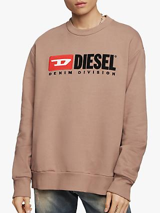 Diesel Logo Crew Neck Sweatshirt, Dusty Pink