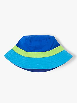 John Lewis & Partners Children's Colour Block Bucket Hat, Blue