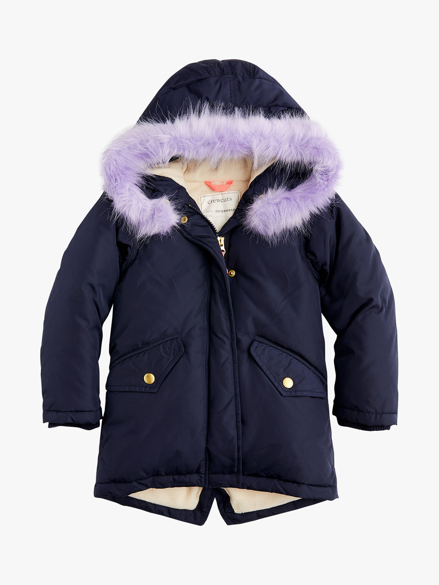 cfabf6d28 crewcuts by J.Crew Girls' Solid Puffer Jacket, Navy at John Lewis ...
