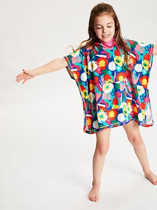 John Lewis   Partners Girls  Floral Towel Poncho f54e77742