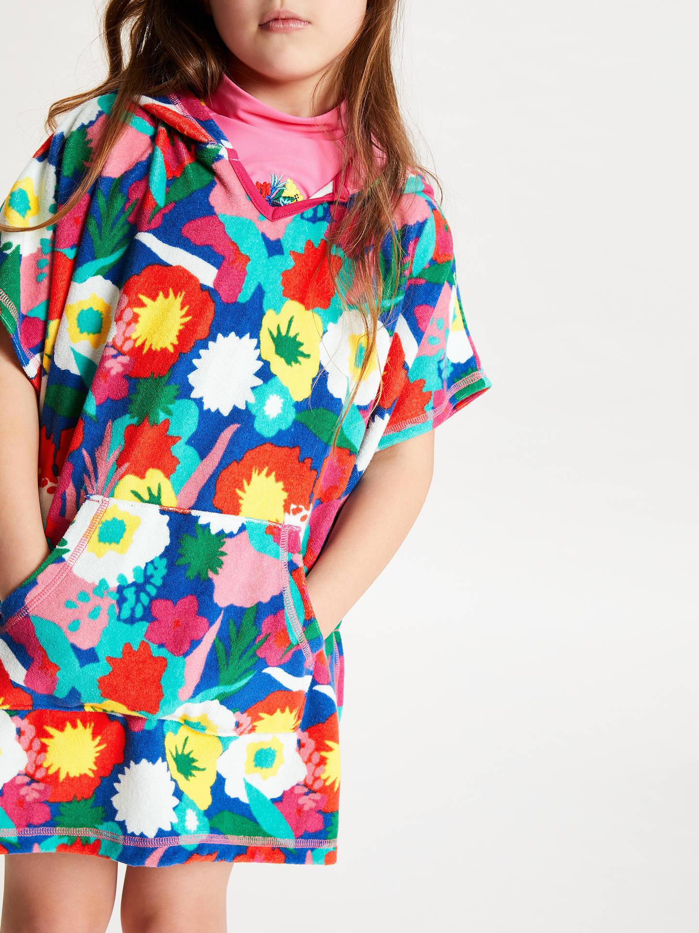 94c861cbd ... Buy John Lewis & Partners Girls' Floral Towel Poncho, Multi, S Online  at ...